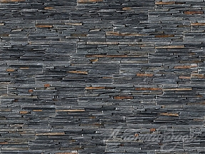 Панель из натурального камня Cupastone, Stonepanel Sky Black Slate Thin Set